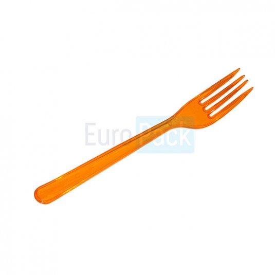 Вилка Люкс 180 оранжевая прозрачная