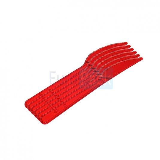Нож Люкс 180 красный прозрачный