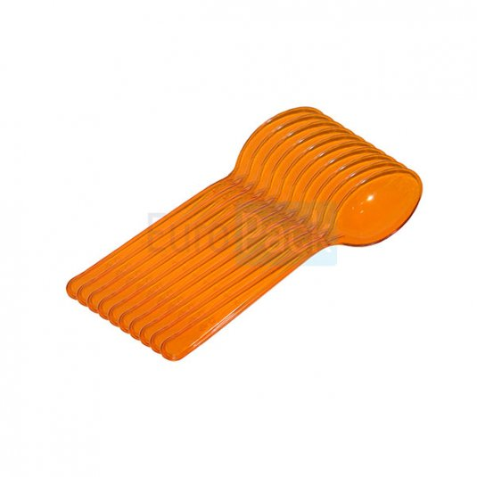 Ложка Люкс 180 оранжевая прозрачная