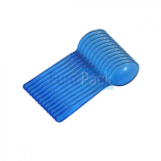 Ложка Люкс 180 синяя прозрачная